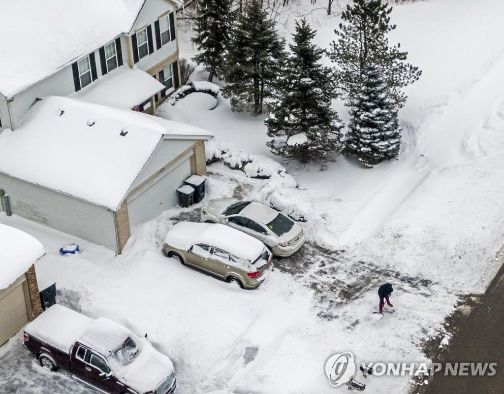 미국 4분의 3이 얼었다…한파에 10여명 사망·550만가구 정전