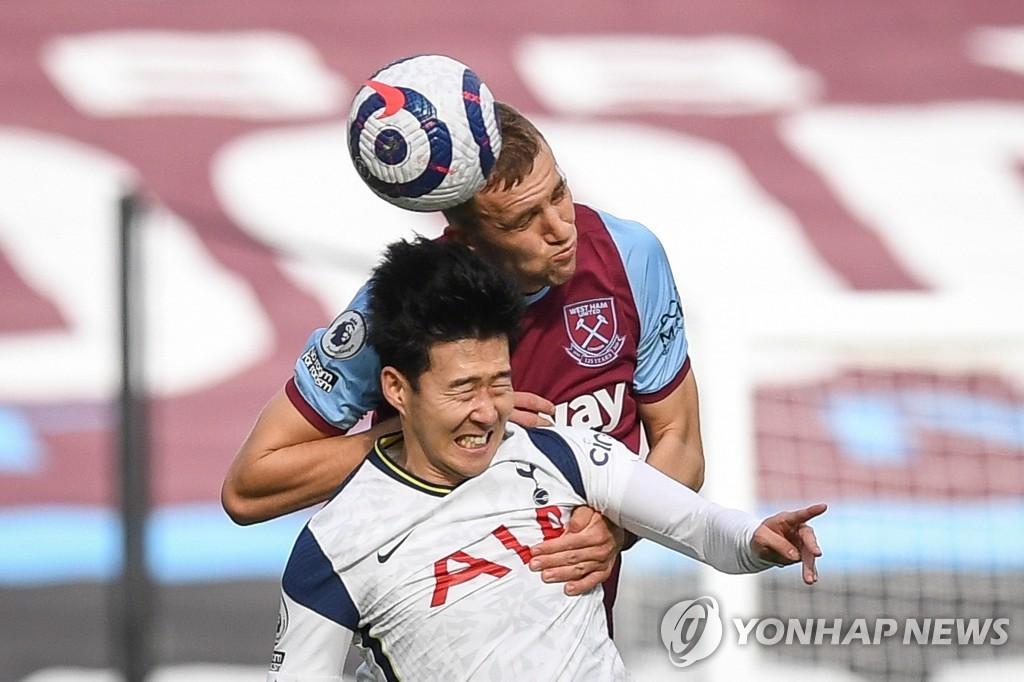 '손흥민 골대 불운' 토트넘, 웨스트햄에 1-2 패배…리그 2연패