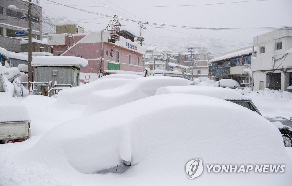 울릉도·독도에 대설경보…경북 북동산지 한파주의보 유지