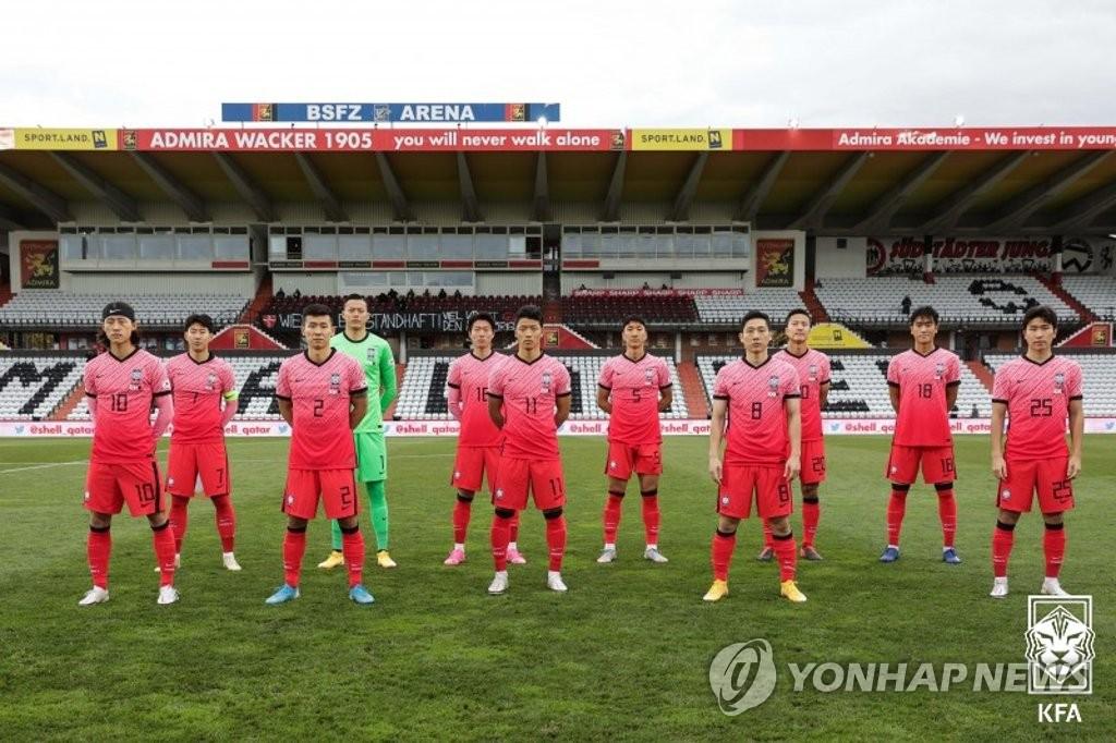한국축구, 새해 첫 FIFA 랭킹 38위 유지