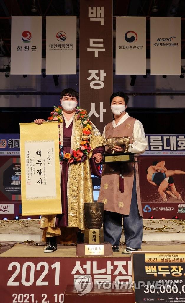"""'모래판 돌풍' 이끈 김기태 감독 """"제2의 씨름 부흥기 왔으면"""""""