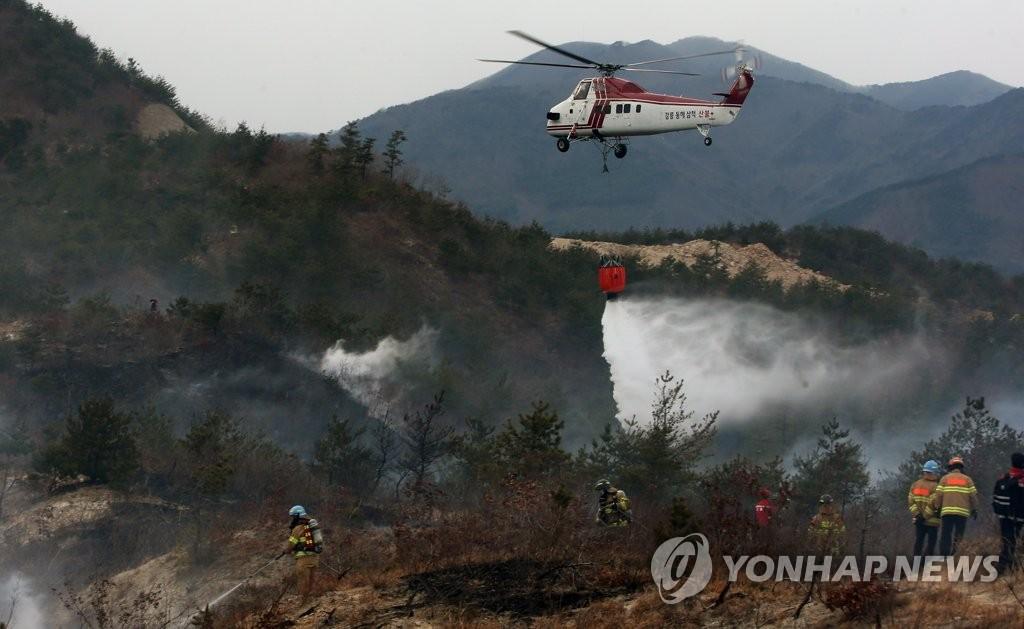 강릉 옥계면 산불 2시간여 만에 진화…산림 1㏊ 소실(종합)