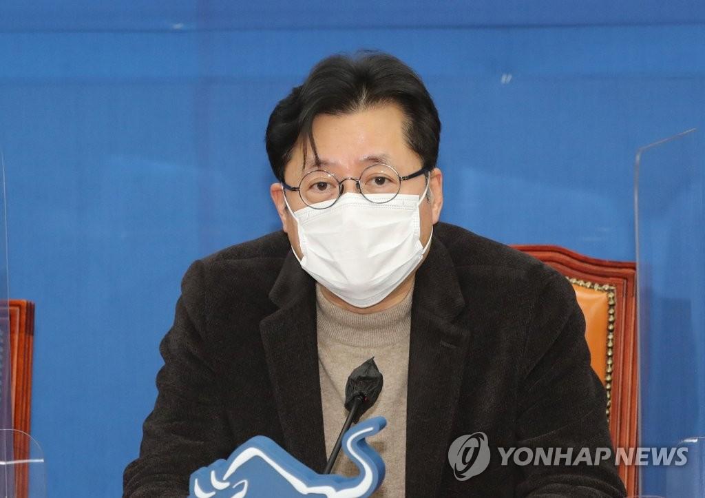 """홍익표 """"4차 재난지원금 20조원 전후…내일 결론"""""""
