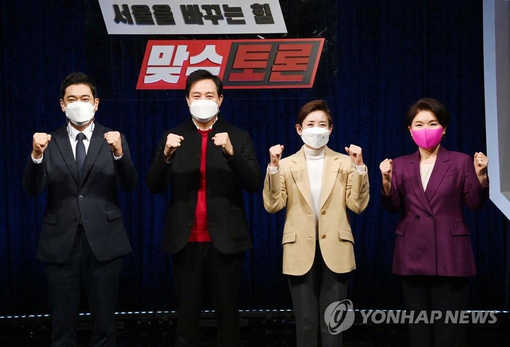국힘, 100% 여론조사 공천룰 여진…나·오 '미묘한 신경전'