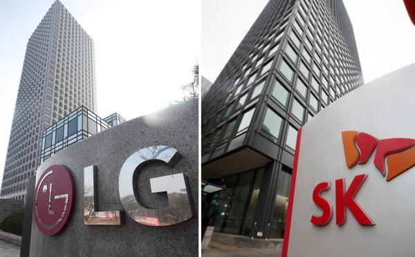 서울 LG와 SK 본사 건물 모습. 사진=연합뉴스