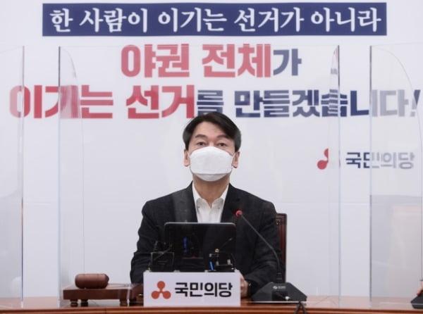 안철수 국민의당 대표가 지난 15일 국회에서 열린 최고위원회의에서 발언하고 있다. /사진=연합뉴스