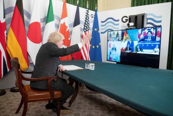 G7 정상화의에 참석한 존 보리스 영국 총리/사진=REUTERS