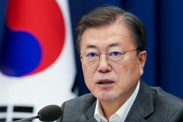 문재인 대통령이 22일 청와대에서 열린 수석·보좌관 회의에서 발언하고 있다.  (사진=연합뉴스)