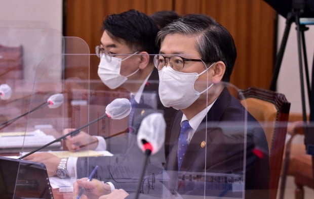 변창흠 국토교통부 장관이 22일 서울 여의도 국회에서 열린 국토교통위원회 전체회의에서 발언하고 있다. 사진=뉴스1