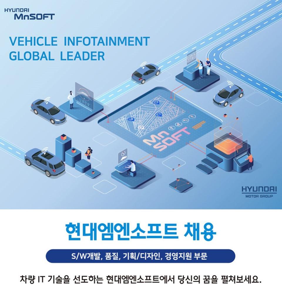 현대엠엔소프트, 1분기 신입·경력 공개 채용
