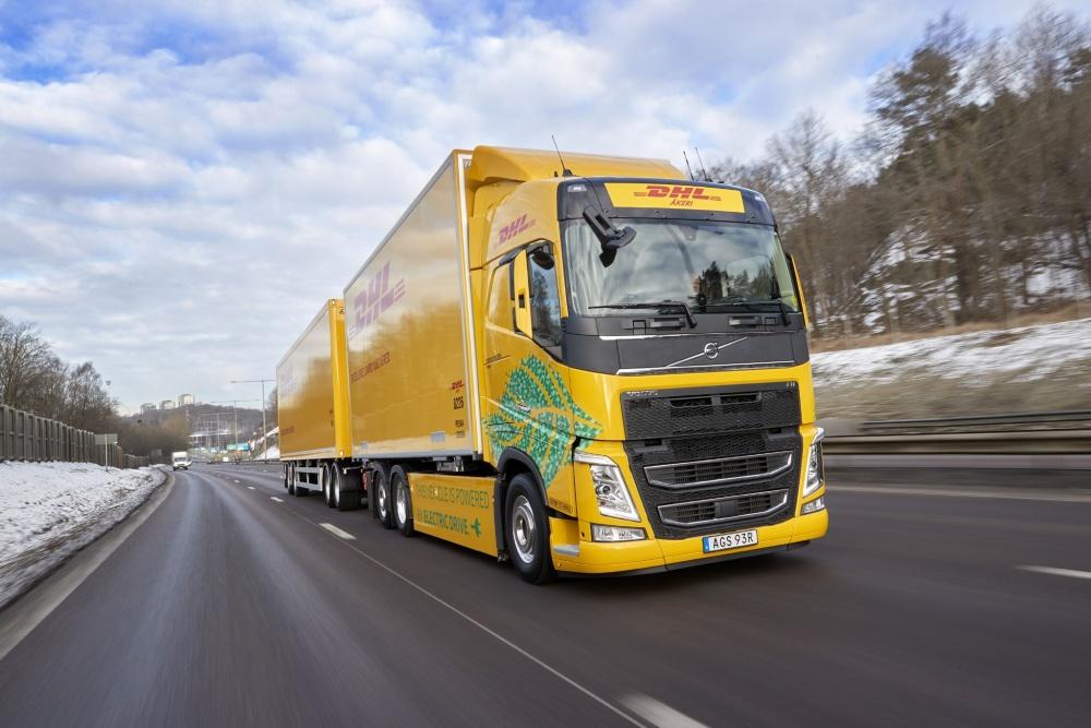 볼보트럭, DHL과 전기트럭 물류 시험운행
