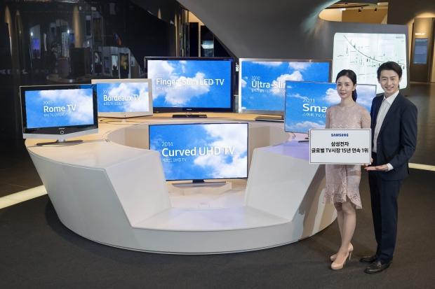 삼성 TV, 역대 최고 시장 점유율로 15년 연속 글로벌 1위 달성