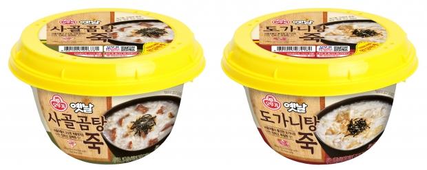 진한 사골국물로 더욱 맛있는 '옛날 사골곰탕죽', '옛날 도가니탕죽' 출시
