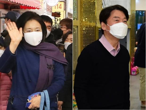 박영선 더불어민주당 경선후보(좌)·안철수 국민의당 경선후보(우)/ 사진=연합뉴스