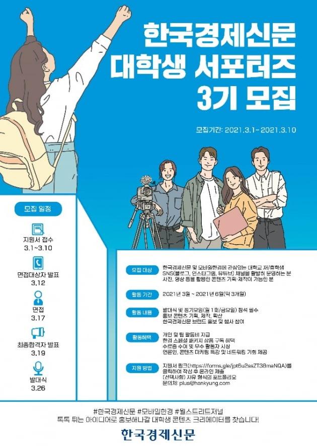 한국경제신문 대학생 서포터즈 3기 모집