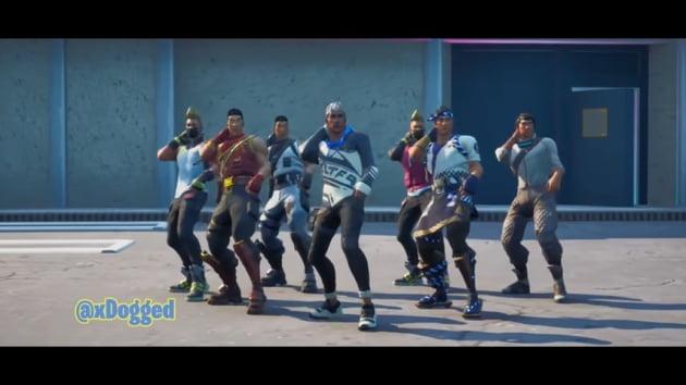 포트나이트에 공개된 BTS의 다이너마이트 안무버전 뮤직비디오 캡처화면 / 출처: Big Hit Labels