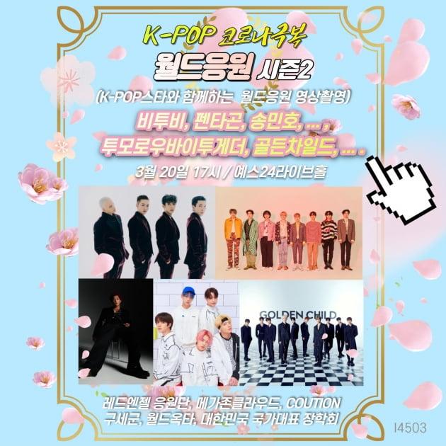 레드엔젤, K-POP 코로나극복 '월드응원 시즌2' 진행