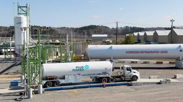 미국 뉴욕주 레이섬에 위치한 플러그파워의 수소에너지 생산 기지. 플러그파워 제공