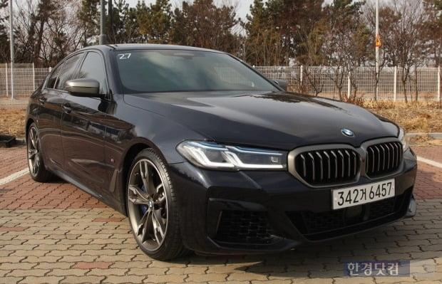 BMW M550i x드라이브 모습. 사진=오세성 한경닷컴 기자
