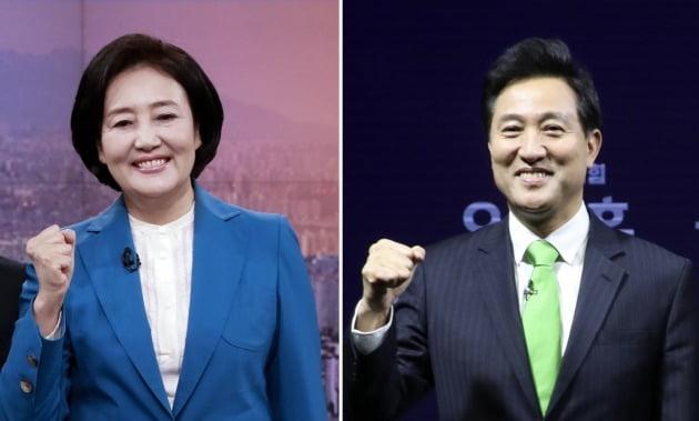 박영선-오세훈, 서울시장 선거 여야 단일후보로 맞대결 [사진=연합뉴스]