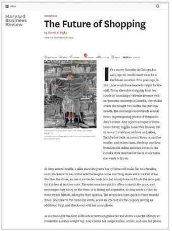 대럴 릭비의 논문 첫 페이지 (Harvard Business Review, 2011)