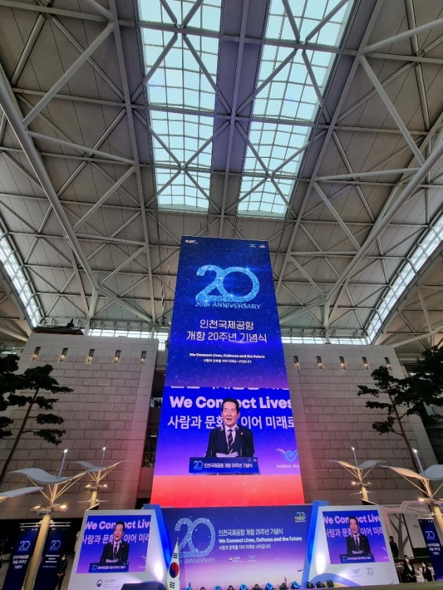 [포토] 인천공항 개항 20주년 '신비전 2030+' 선포