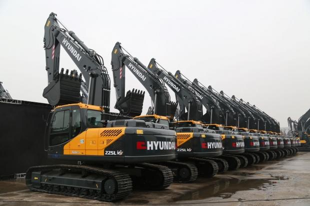 현대건설기계, 중국서 건설장비 2,200대 수주