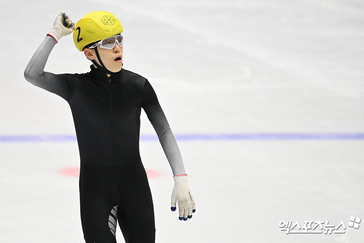 남윤창 '제일 먼저 결승선 통과'[포토]