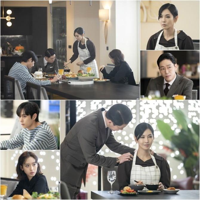 '펜트하우스2' 김소연X엄기준X김영대X한지현, 숨통을 조여 오는 위태로운 식사 현장 포착