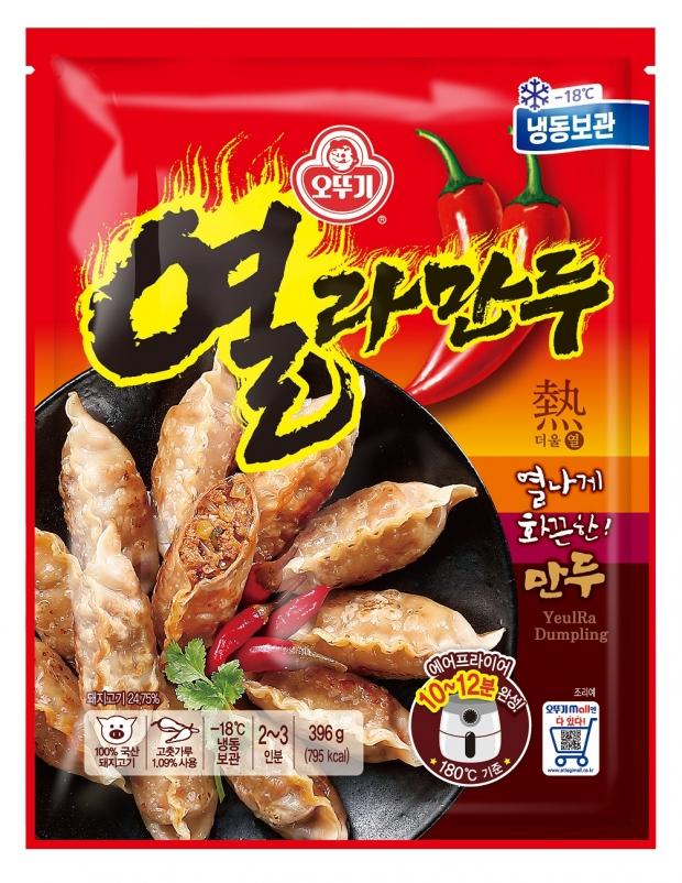 열라면의 화끈한 맛을 만두로 즐긴다! 오뚜기 '열라만두' 출시