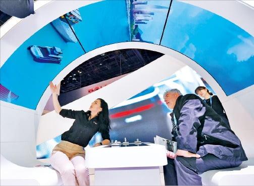현대모비스가 '2020 CES'에서 선보인 선박 연료전지시스템.   현대모비스 제공