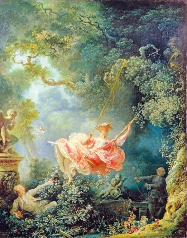 장 오노레 프라고나르, '그네', 1767, 런던 월리스 컬렉션