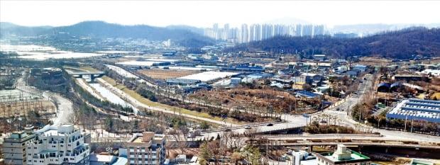 7만 가구 규모의 3기 신도시로 지정된 경기 광명시흥지구에 포함된 광명시 옥길동 일대.  /김범준 기자 bjk07@hankyung.com