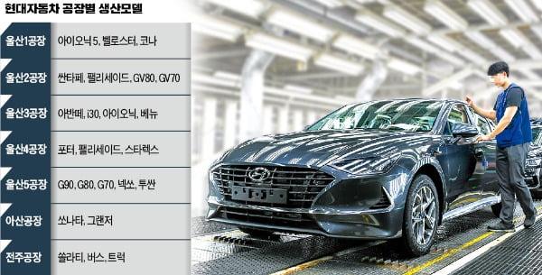 현대차 '혼류생산' 추진…한 라인서 車 5종 이상 만든다