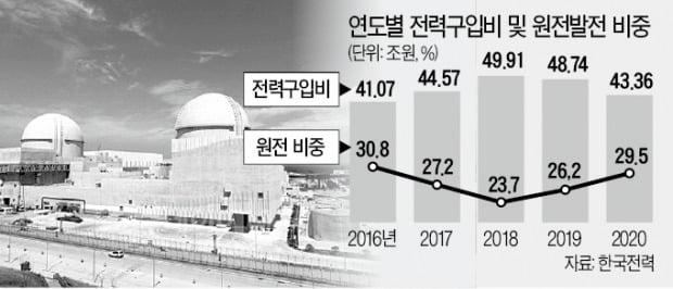 [단독] 전력구입비 급증하자…원전 가동 늘린 정부