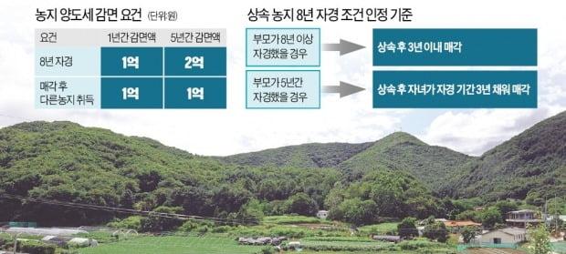 상속농지, 3년 내 팔면 2억원까지 양도세 감면 받는다