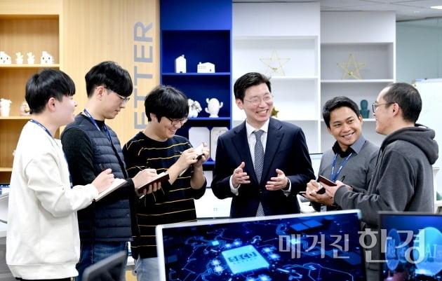 임차성 시큐레터 대표와 직원들. 사진=김기남 기자