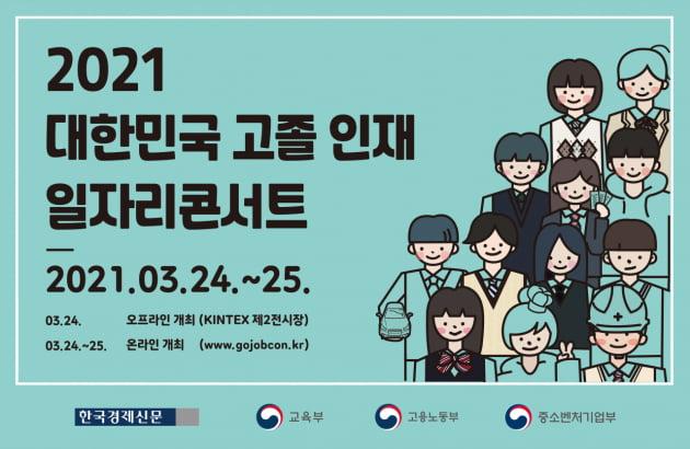 2021 대한민국 고졸 인재 일자리 콘서트 24~25일 온·오프라인으로 개최