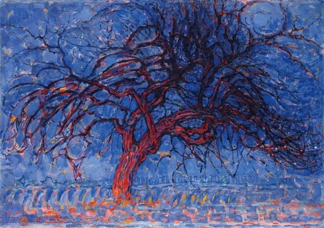 피트 몬드리안, '붉은 나무', 1908년, 헤이그 시립미술관