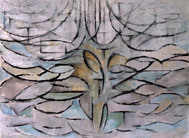 피트 몬드리안, '꽃 피는 사과나무', 1912년, 헤이그 시립미술관