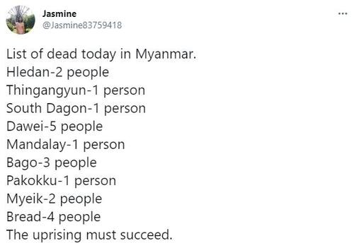 미얀마 '피의 일요일'…군경 무력사용에 시위대 최소 18명 사망(종합)