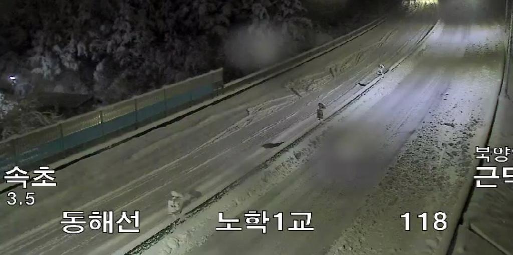 동해·서울양양고속도로 고립 벗어나…통행 재개