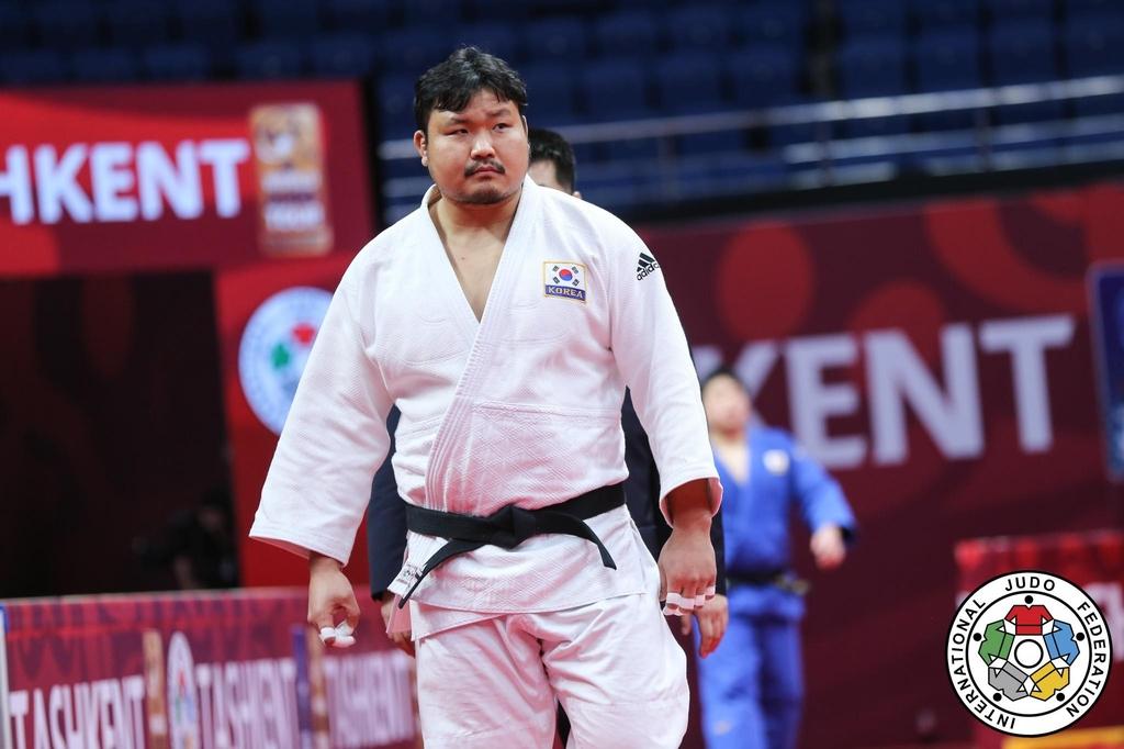 유도 김성민, 타슈켄트 그랜드슬램 은메달…아쉬운 역전패