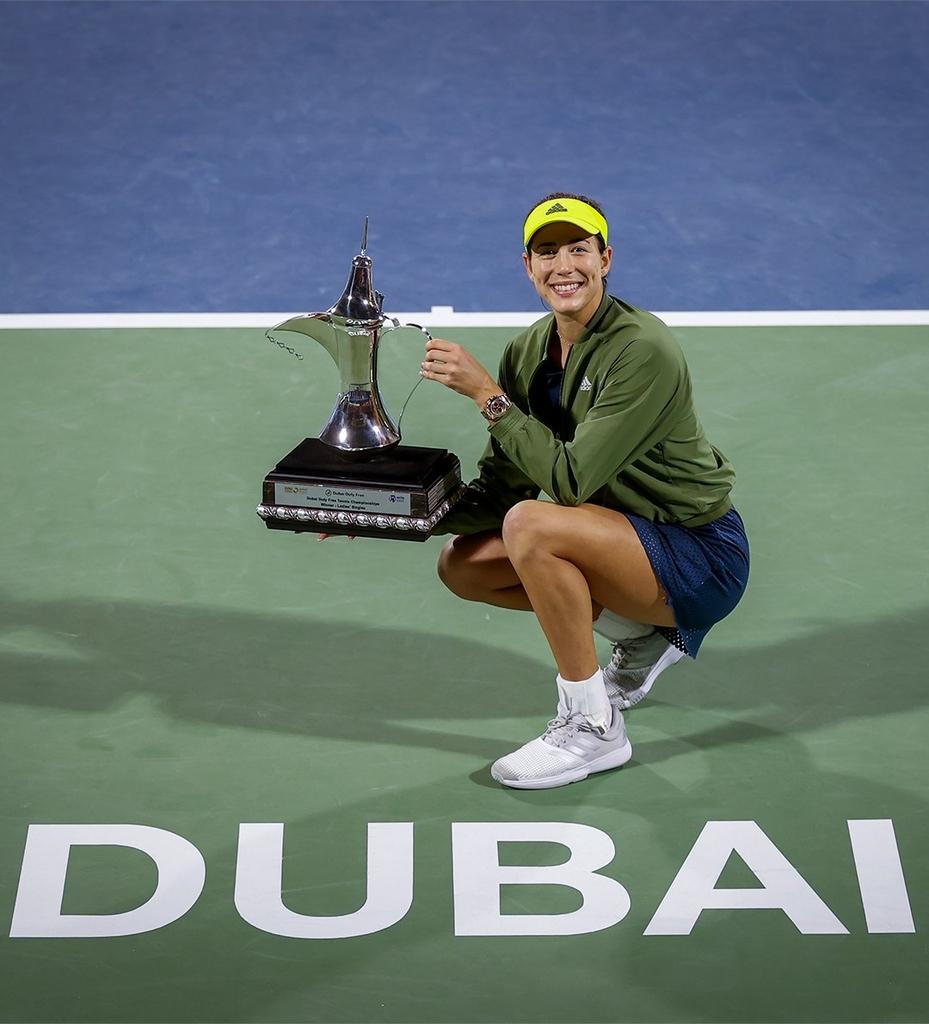 무구루사, 두바이 듀티프리 챔피언십 테니스 우승