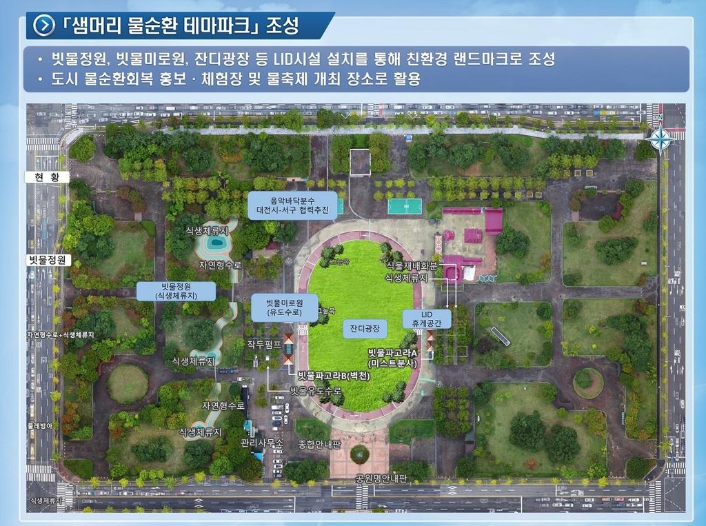 '빗물 잘 스며들도록'…대전시 물순환 선도도시 사업 시동
