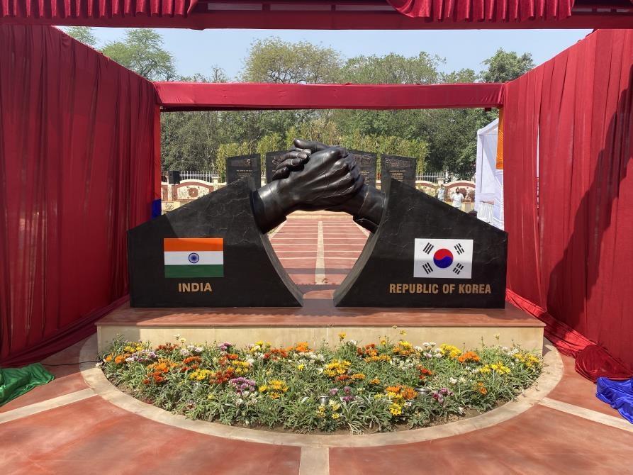한·인도 우호공원 개장에 장관·참모총장 印 군 수뇌부 총출동