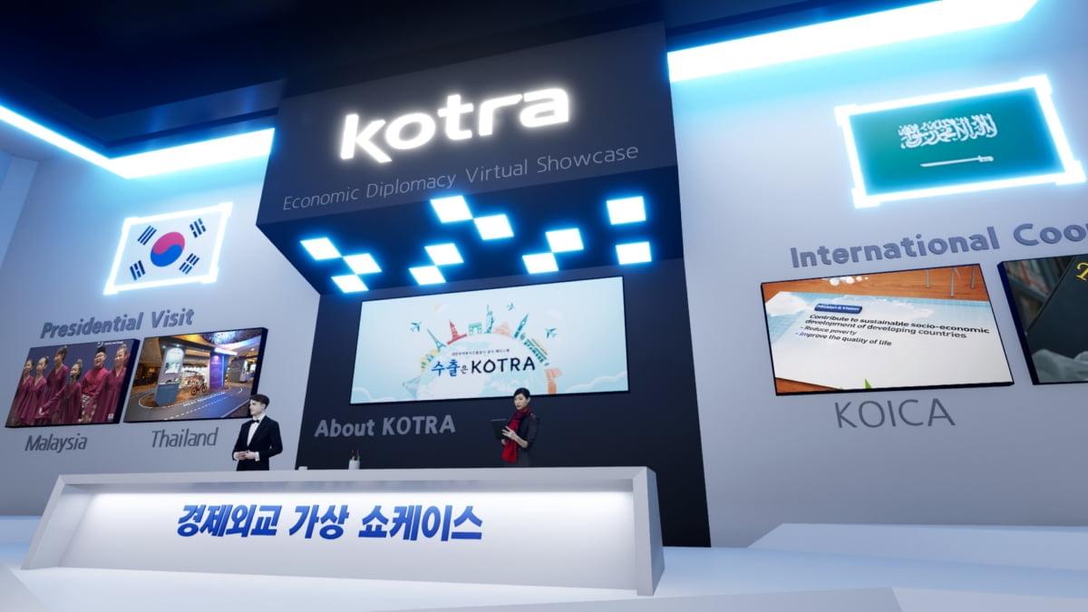 ㈜플레이파크, KOTRA의 경제외교 가상전시관 웹사이트 개발