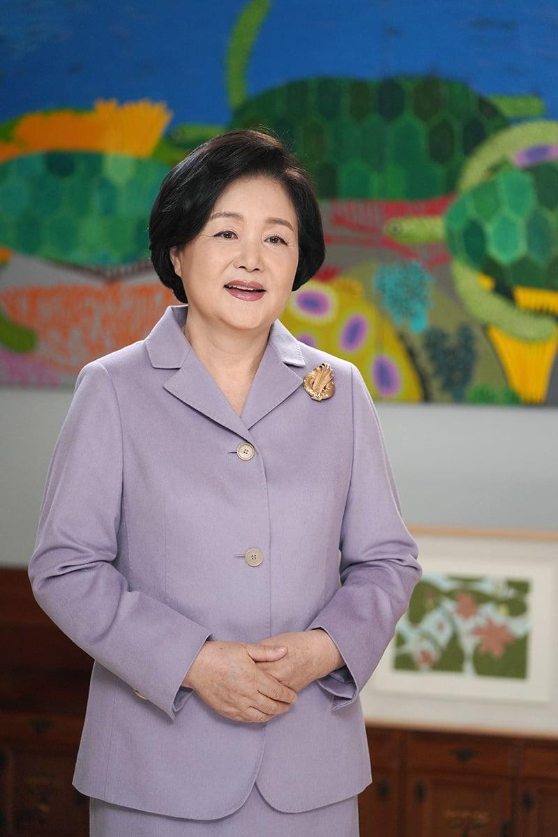 김정숙 여사가 2일 대구예아람학교 제1회 입학식을 영상으로 축하했다. (청와대 제공)