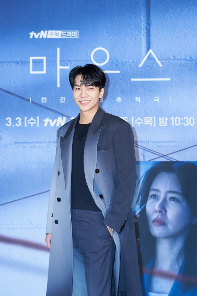 배우 이승기가 3일 오후 온라인 생중계된 tvN 새 수목드라마 '마우스' 제작발표회에 참석했다. /사진제공=tvN