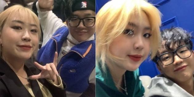 래퍼 이영지(왼쪽)와 래원/ 사진=인스타그램